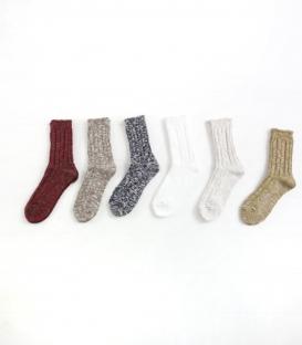 ichi  混色編織中筒襪