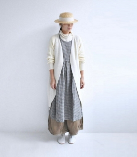 Antiquite's Ichi V領開襟長羊毛外套