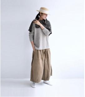 ICHI Antiquités V領毛衣