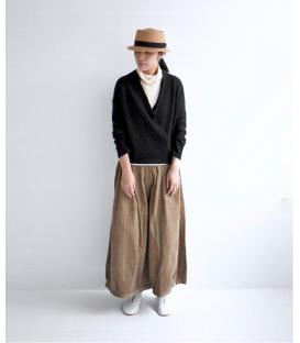 ICHI Antiquites 薄毛料開襟罩衫