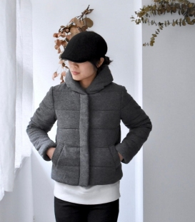 ichi 短版棉襖外套