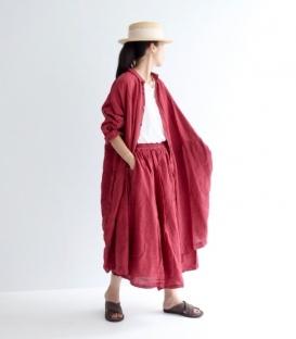 ICHI Antiquités麻料裙子