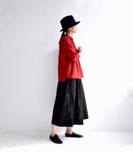ichi  小立領壓細褶上衣