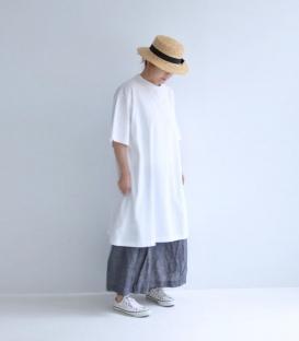 ICHI Antiquités 厚棉五分袖寬版洋裝