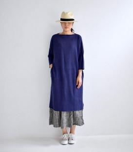 ichi 柔軟麻料針織洋裝