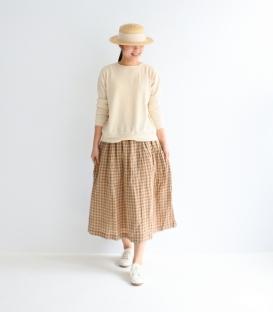 ICHI Antiquités格紋麻長裙