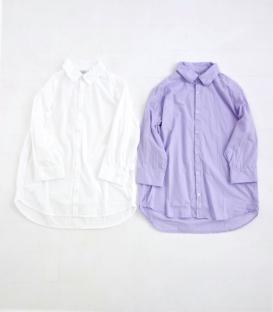 ichi 七分袖前短後長襯衫