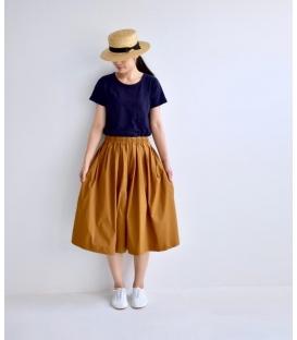 ichi 基本款素色綿短袖上衣
