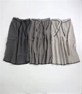 ICHI Antiquités 麻料綁帶長裙
