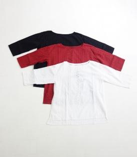 soi-e 印度棉刺繡七分袖上衣