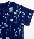 ichi 藍染花草圖案短袖棉T