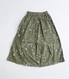 ichi 印花鬆緊帶裙