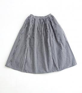 ichi 挺棉格子裙