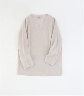 ICHI Antiquités  V領柔軟毛料針織毛衣