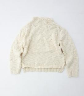 ichi  麻花針織高領毛衣