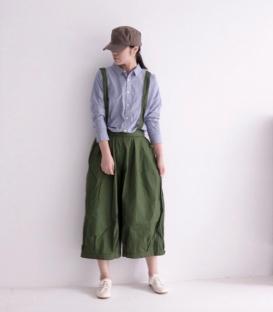 ichi 綿料吊帶褲