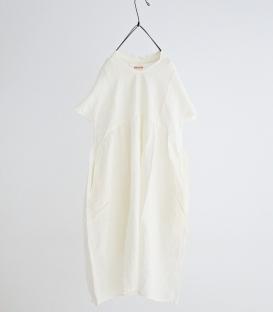 快晴堂 麻料V領短袖洋裝
