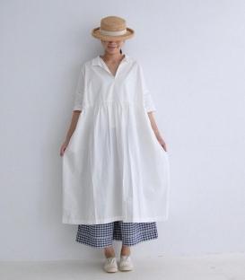 ichi V領五分袖寬版洋裝