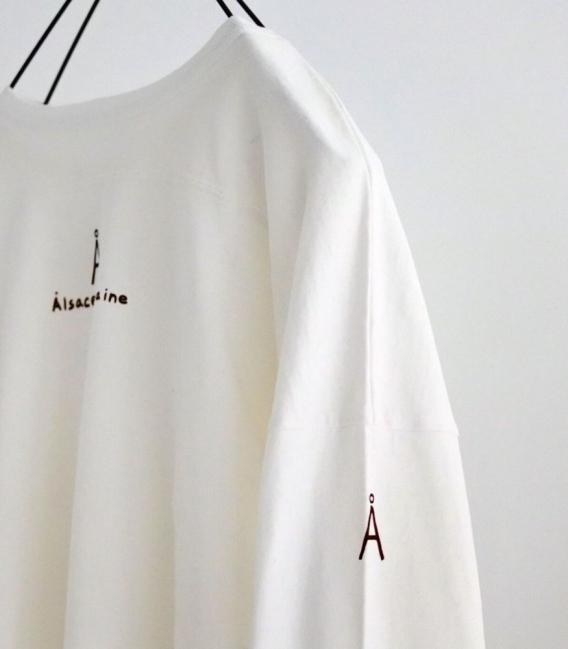 快晴堂 字母A落肩胸切線長袖上衣