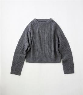ICHI Antiquités 短版袖長毛衣