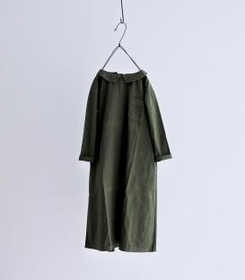 Brocante 小翻領A版長袖洋裝