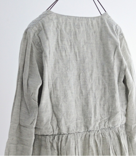 Brocante 菱格紋拼接洋裝