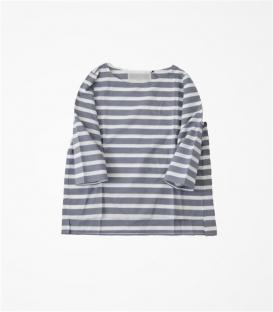 soi-e  船領襯衫布七分袖上衣