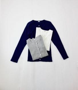ichi 螺紋釦扣外套