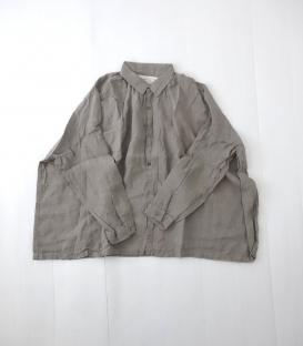 ICHI Antiquités 麻料寬身襯衫