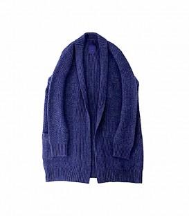 ichi 毛料針織長版外套