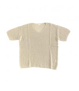 ichi V領針織短袖上衣