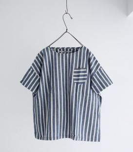 OMNIGOD直條紋寬版短袖上衣