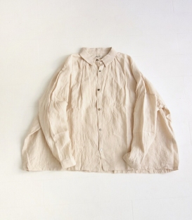 ICHI Antiquités 定番款麻料寬版襯衫