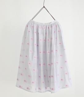 haupia 貴賓狗圖案刺繡裙