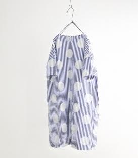 ichi 圓點直條紋洋裝