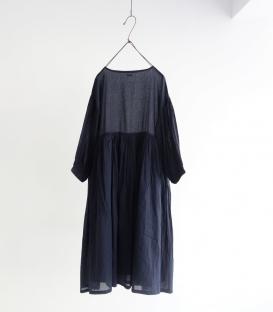 ichi 細摺澎袖圓領洋裝