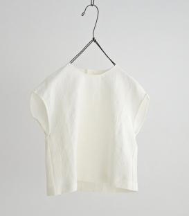 haupia 小蓋肩後排釦短身壓花上衣