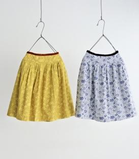 haupia 小樹圖案腰邊絨布緞帶裙