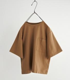 prit 駝色左胸寬袖T