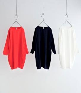 ichi 口袋棉料繭型洋裝
